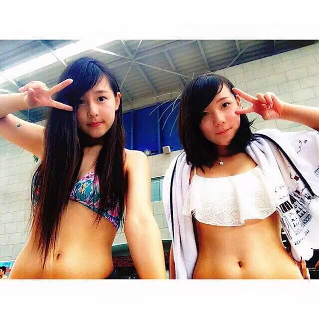 【画像】JKとか大人の女性のすごいエロい水着の女の子たち