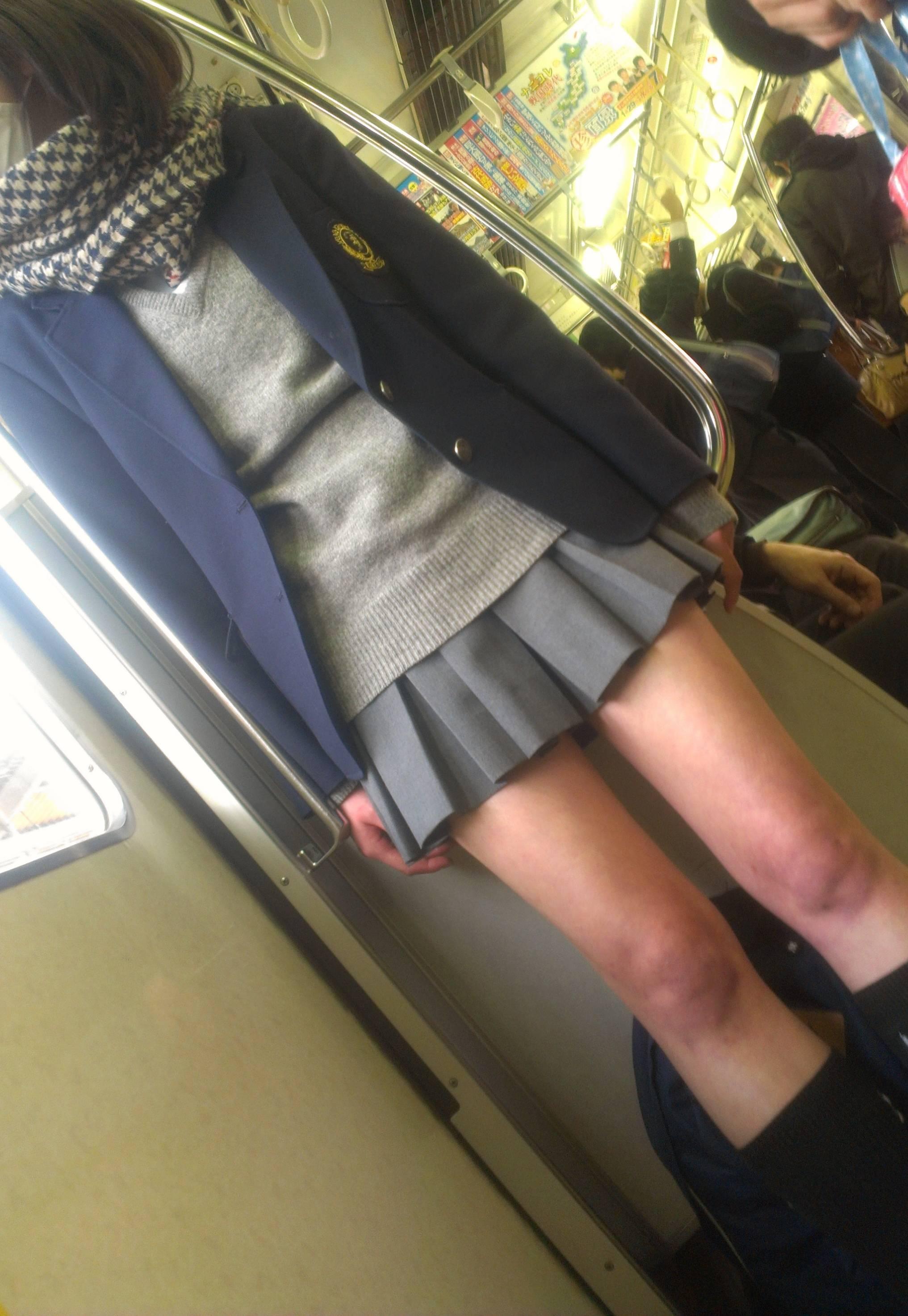 【画像】電車内にJKがいて大人しくできるか!?www