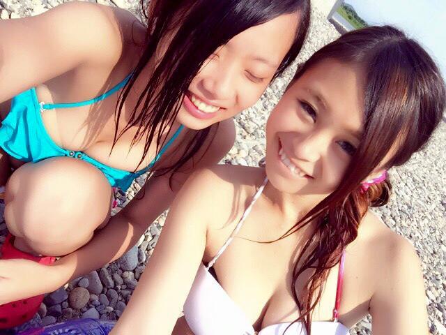 【画像】水着で巨乳な女子高生ってけしからんにもほどがあるわ!