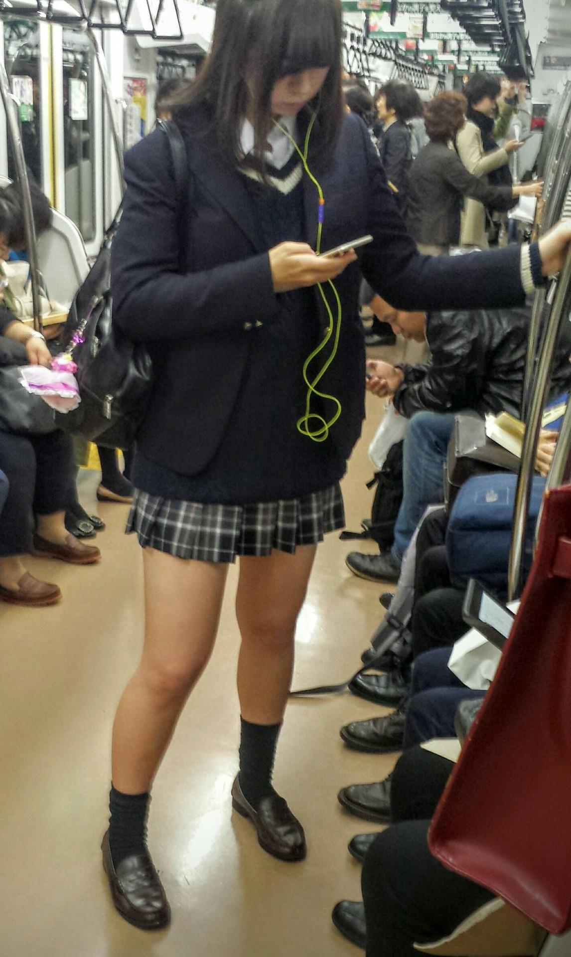 【画像】思わず乗り過ごしてしまう電車JK