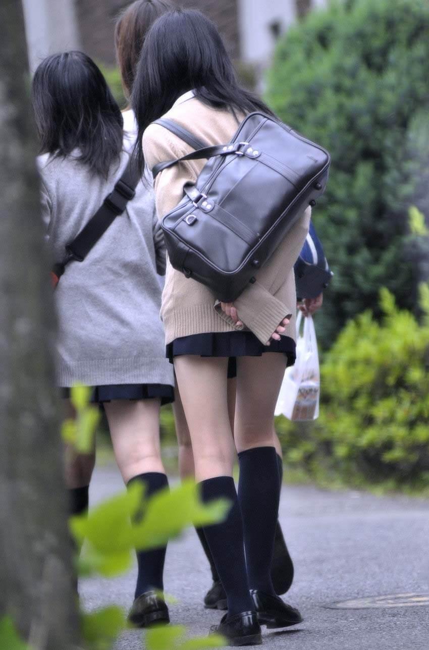 【画像】通学中の女子高生だ(カシャカシャ)