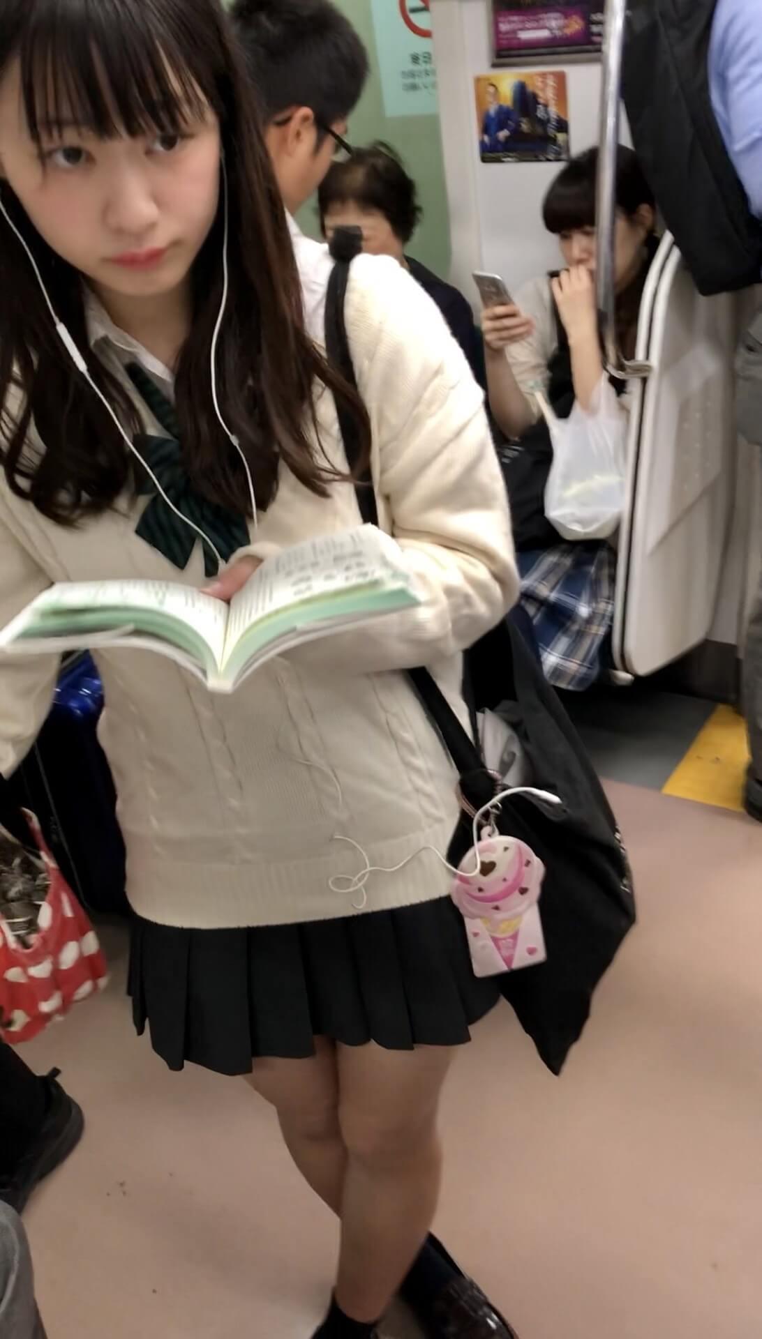 【画像】電車内でJKをこっそりスマホ盗撮経験奴 ノ