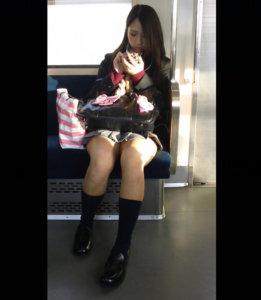 【画像】スマホのおかげで増えた電車JKの盗撮写真