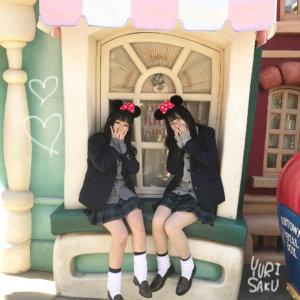 【画像】高校生最後の思い出作りのディズニーJK写真