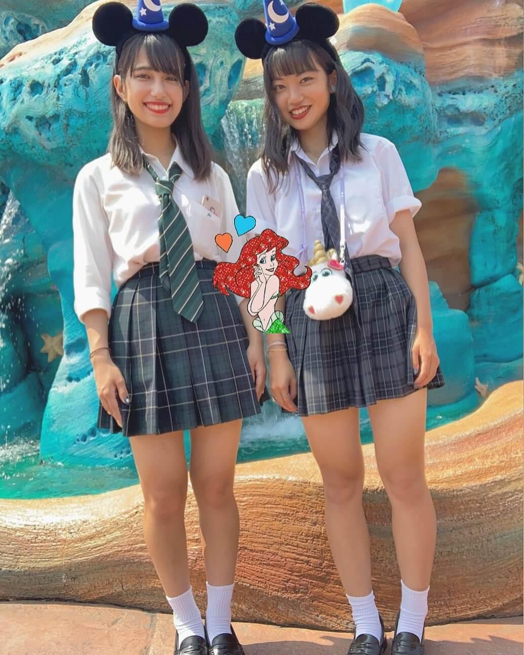 【画像】ディズニーで大はしゃぎする女子高生がカワイイ