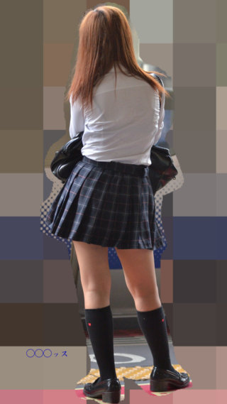 【画像】うっすら下着が見えたら勃起不可避なシャツ女子高生