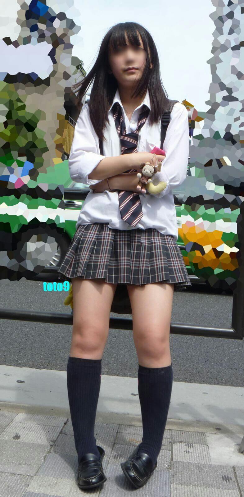 【画像】待撮りYシャツ女子高生写真