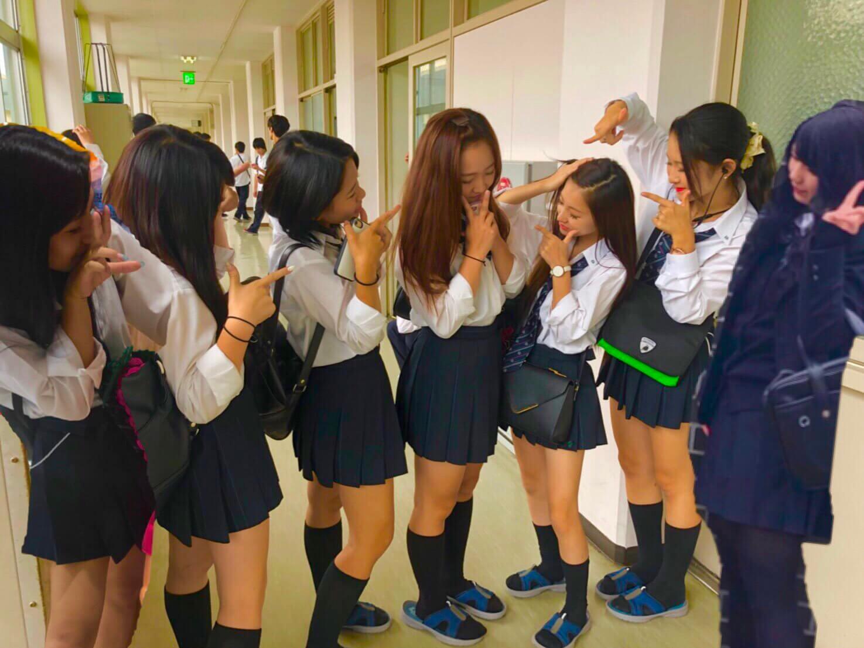【画像】大阪にある長野北高校のJKがちょっとカワイイ