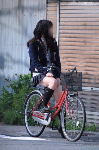 【画像】女子高生が自転車に乗ってるのをガン見しない成人男性おる?