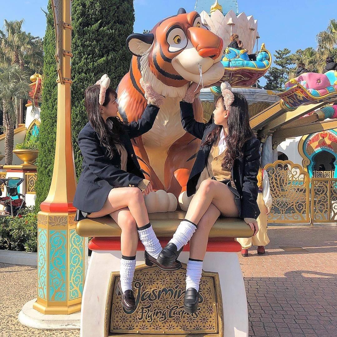 【画像】あ~女子高生とディズニーに行ってこんな写真一緒に撮りたい・・・