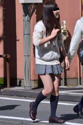 【画像】登下校中のJKちゃんを捉えた街撮り写真